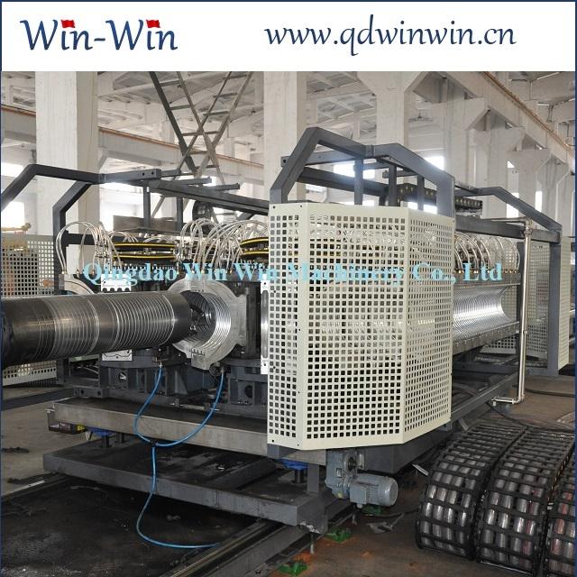 Станок производства двухслойных канализационных гофротруб из ПЭ 200-600мм 1