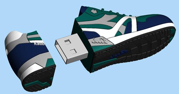 Customized Shoe Shaped USB Flash Drive 1GB 2GB 4GB 8GB