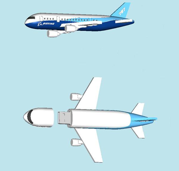 2GB / 4GB / 8GB High-Speed Boeing Airplane Shape Customized USB Flash Drive / USB Keys