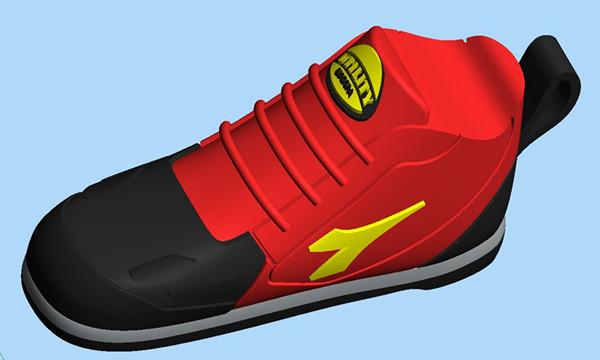 2GB / 4GB / 8GB RED Sport  Shoes Shape USB Flash Drive Pen Drive Memory Stick