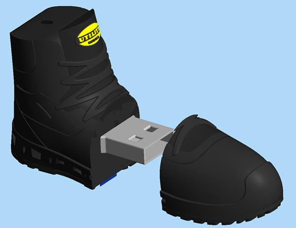 Shoe-shaped USB key 2GB 4GB 8GB 16GB 32GB 64GB custom usb flash drives OEM rubber USB Flash