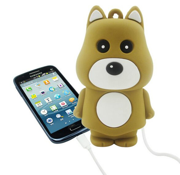 Promotion gift cartoon portable power bank 2000mAh /2200mAh/ 2600mAh / Bear shpare Mobile Phone charger