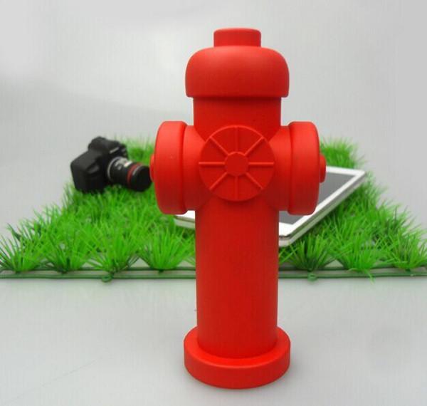 Custom Fire hydrant shape power supply PVC portable charger Soft PVC power bank