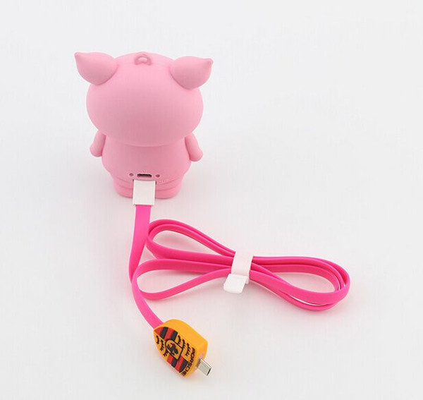 PVC cartoon Cattle phone charger full protect power bank for laptop