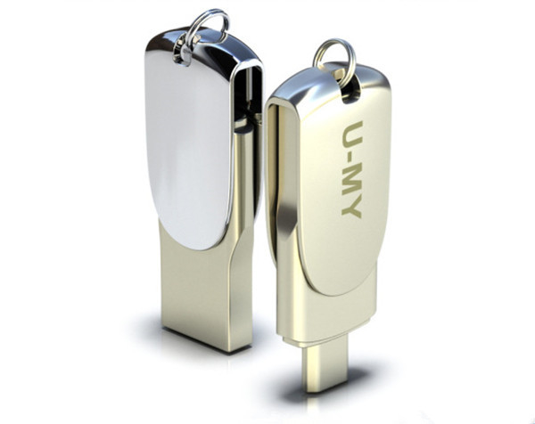 OTG USB flash drive with keyring , noble mobile phone usb flash drive for business gift