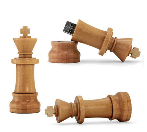 Wood Chess USB 2.0 usb flash drives thumb pendrive usb creativo memory stick 4GB