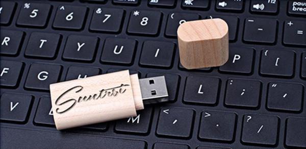 Wood USB Flash Drive Pen Drive 4GB 8GB Pendrive Wooden USB Stick Specifical Gift USB Flash Customized Logo USB Stick