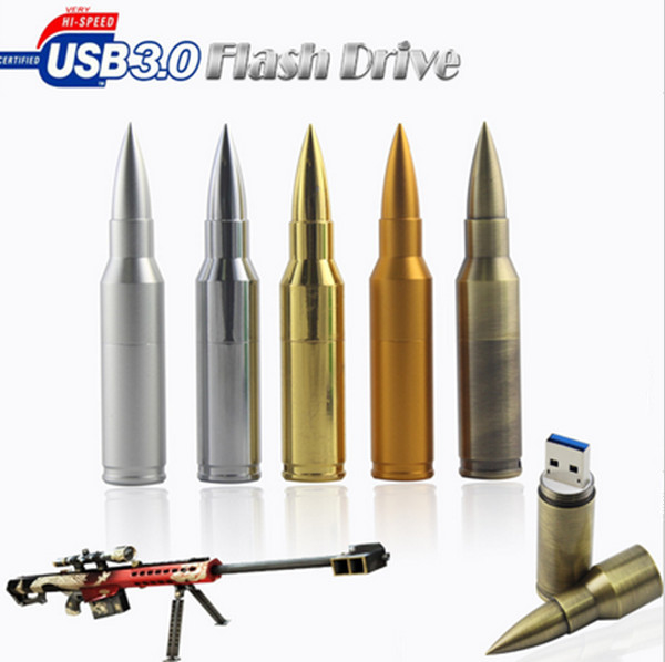 3.0 USB Flash Drive Storage Disk metal bullet style pendrive 8gb 16GB 32gb 64gb 128gb