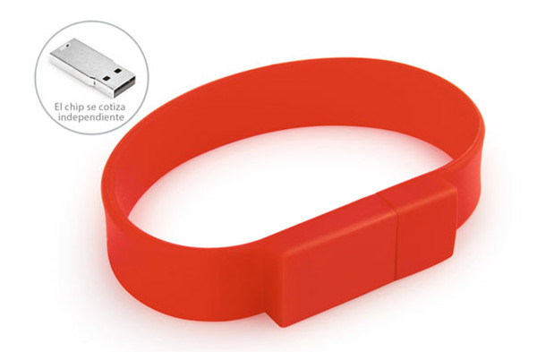 Custom Silicone Bracelet Usb Flash Drive 4GB L 220mm X W 18mm X D 8mm