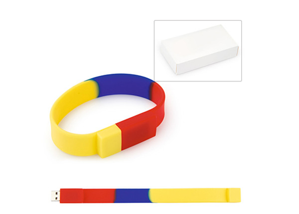 Premiums OEM Rainbow color Wristband USB Flash Drive Usb Memory Stick 32gb