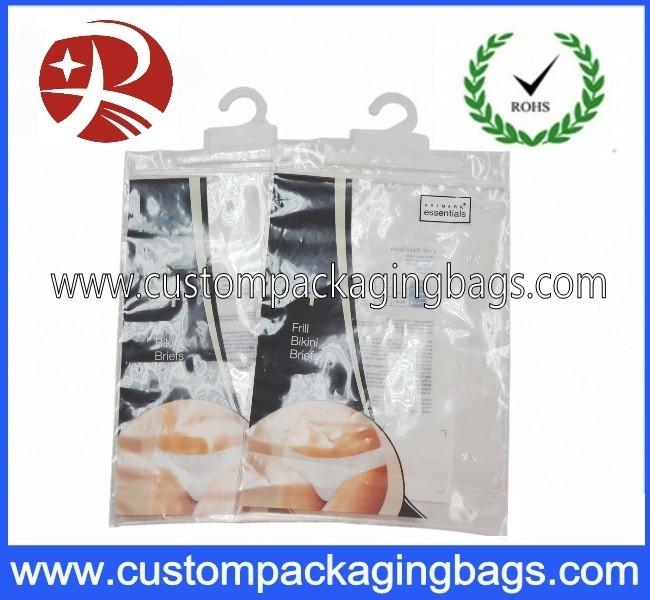 PLA Biodegradable Corn Starch Compostable Ziplock  Plastic Bag For Sock Packaging