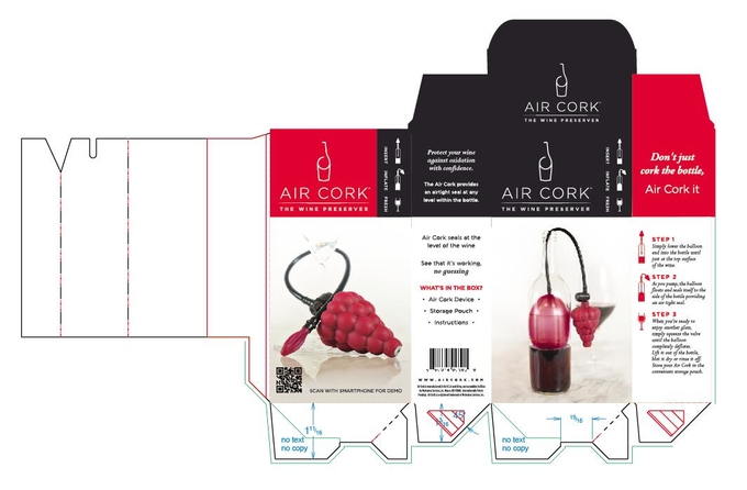 Paperboard Packaging Box For Wine Preserver , Wine Accessory Packaging