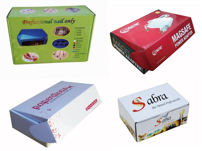 Folding Packaging Boxes For Electronic Thermostat Product White Cardboard Stock