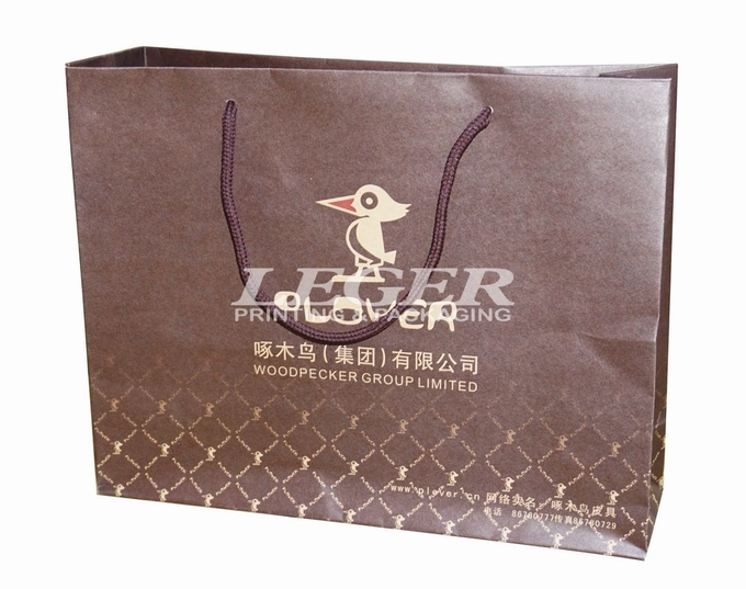 Craft Paper Shopping Bags Garments Product , Promotion Retail Packaging Bags