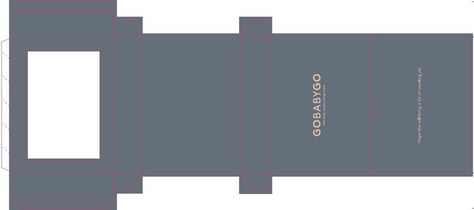 Matt Coated Custom Paper Packaging for Baby Crawling Start Kit / Baby Socks Box