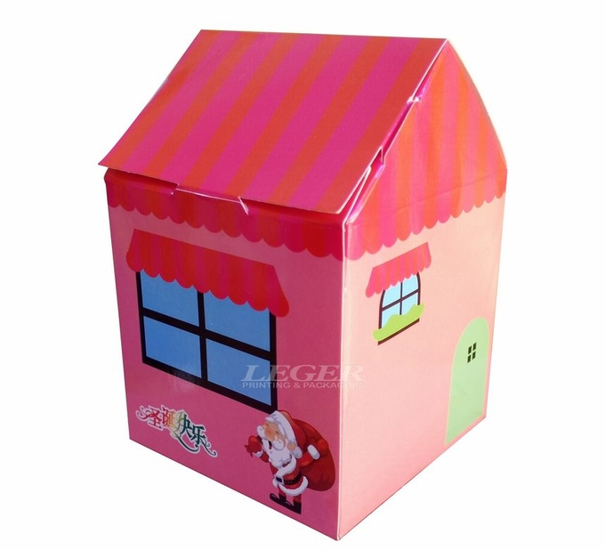 Smart Custom Gift Packaging For Children , Portable Paper Candy BoxWith Handles