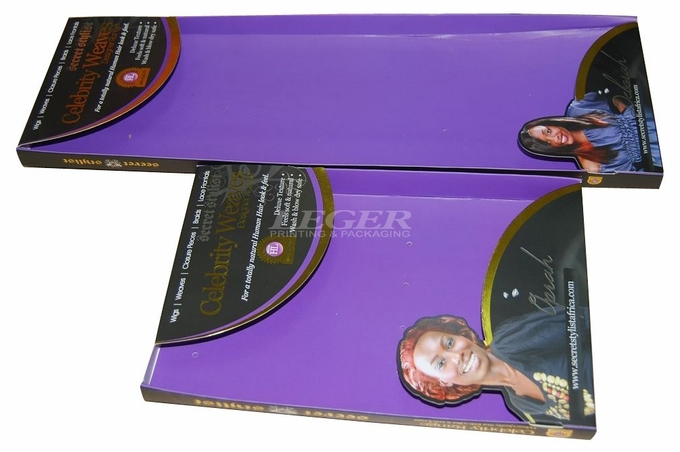 Amazing Hair Extension Packaging Box , Custom Wig Boxes Ribbon Closing