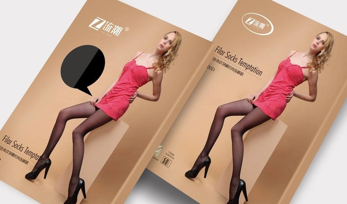 Lingeries Custom Paper Packaging Box , Bra Packaging Box Matt Coating Finishing