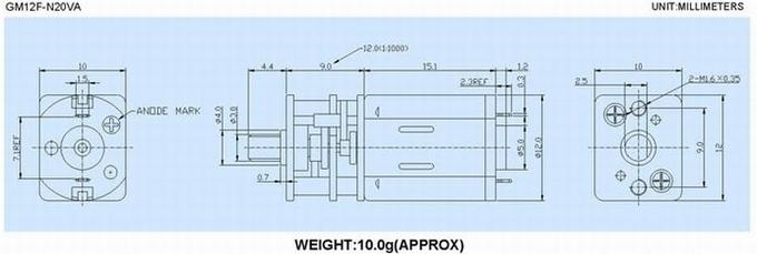 High Precision Gear 5V 6V 12V Small High Torque DC Motor / Gear Reduction Motor