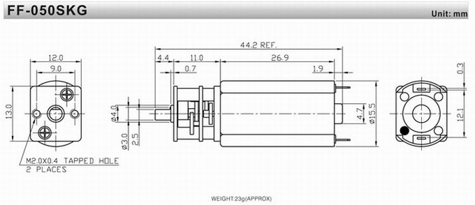 12 Volt Electric Motors With Gear Reduction RoHS / ISO / TS16949 Approval