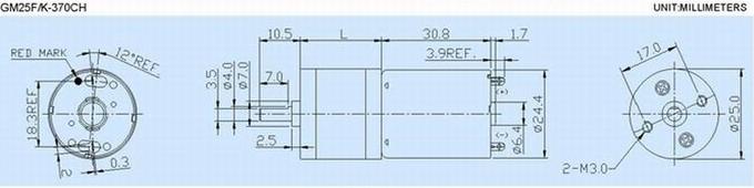 Sanitary Ware Whisk Use 6V / 9V /12V DC Gear Reduction Motor 322mA Rated Load Current