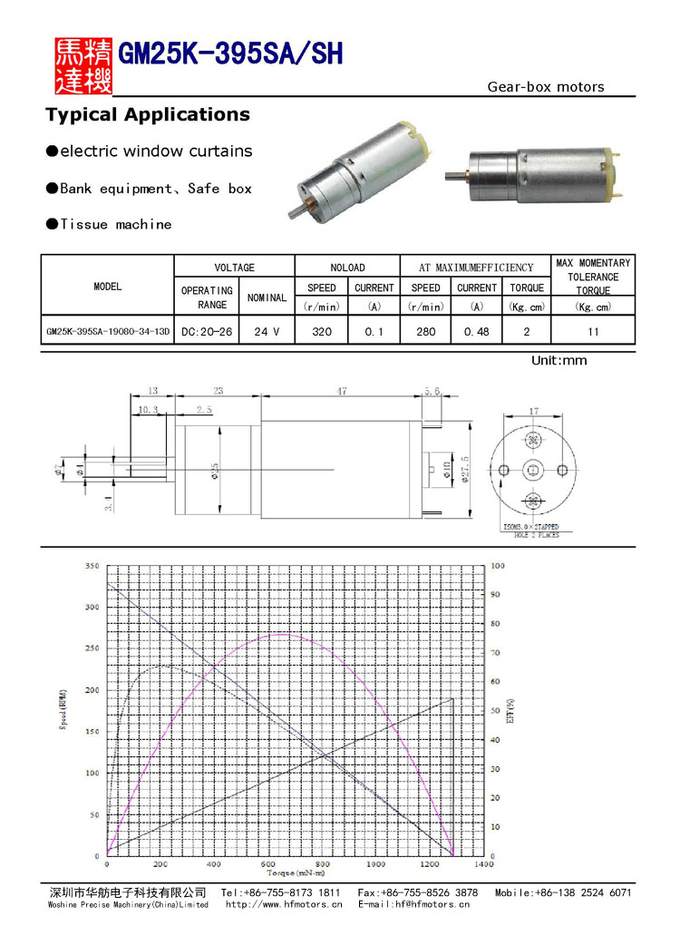High Precision Gear Motor 25mm RoHS / ISO / TS16949 Certificated