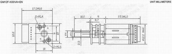 12mm DC Gear Motor with Hall Encoder 5V / 6V / 12V Metal Gearbox Motor for Robot