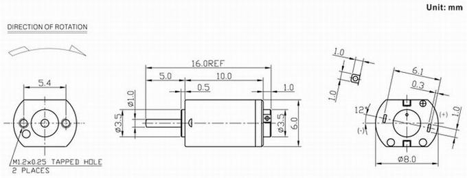 8mm Micro DC Motor 3V / 6V / 12V Brushed Motor For lianr Robot Toy