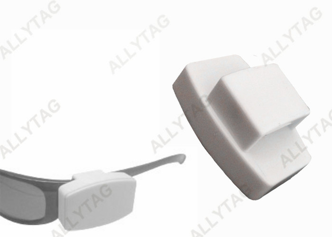 Light Weight Security Tags For Eyeglass Frames , Eyewear Security Tags White Color