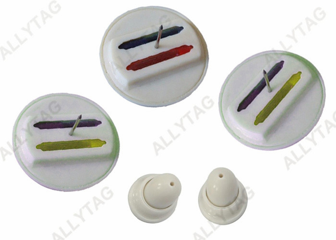 40mm EAS Ink Security Tag  AM / RF Smooth Pin For Clothes / Shoes / Bags