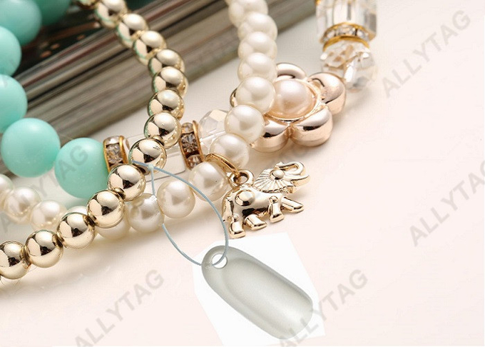 AM 58KHz EAS Jewelry Tag Security Alarm For Bracelet Anti Lost White Color