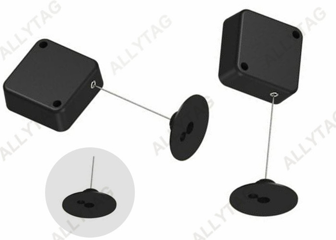 EAS Anti Theft Pull Box 3M Sticker Installation 44 x 44 x 16mm With Black / White Color