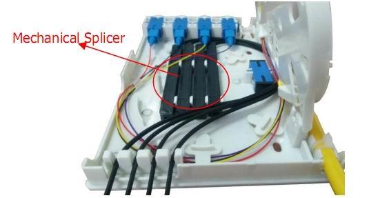 4 cores network wall mount fiber optic distribution terminal box