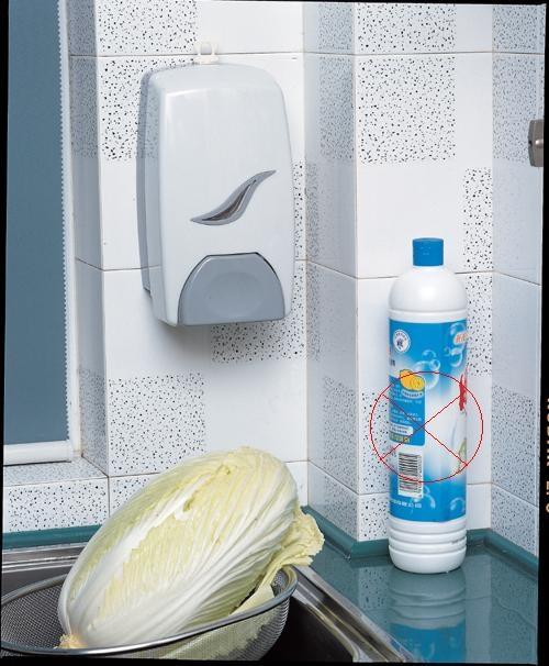 Reliable Manual Hand Soap Dispenser , White Touch Soap Dispenser Flexible Nozzle