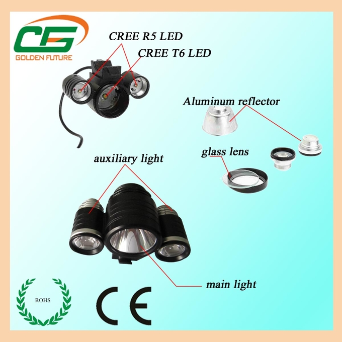 Aluminum housing bicycle light