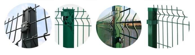 Post of 3d mesh fence
