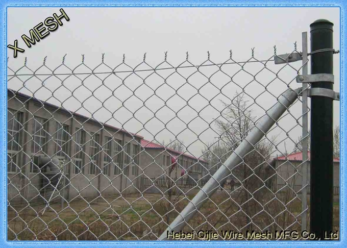 Chain link fence provides security for the factory