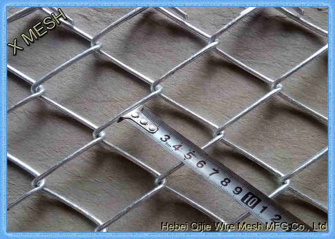 Aluminum Coated Steel chain link fence used as sport fence