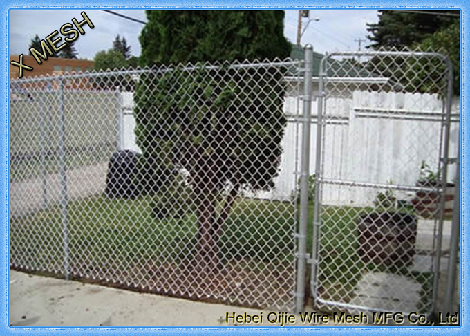 Aluminum coated chain link fence used for grass fencing