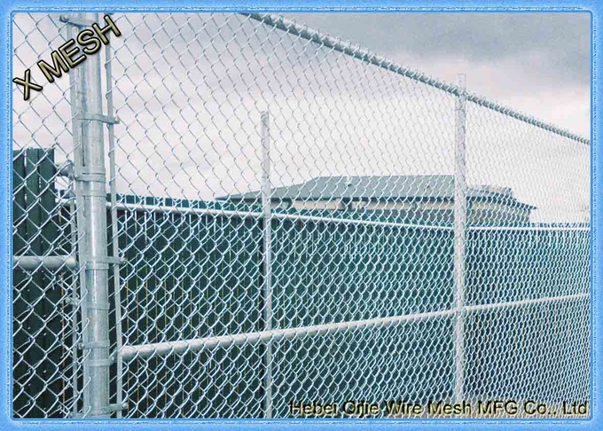 Aluminum coated chain link fence