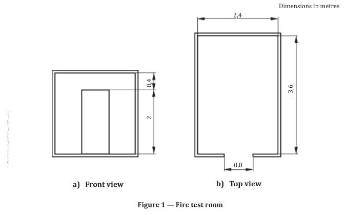 ISO 9705 Flammability Testing Equipment Physical Room Fire Corner Fire Test Device