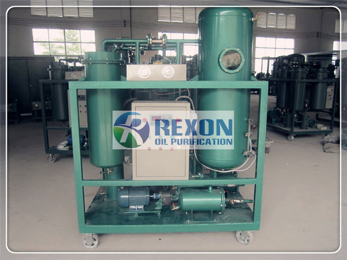 Steam Turbine Oil Filtration Machine / Oil Water Separator 3000LPH TY-50