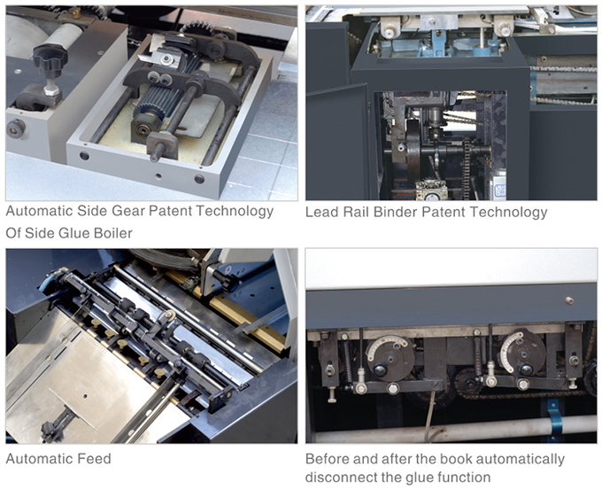 Automatic Book Binding Equipment , Feed Cover Spiral Coil Binding Machine