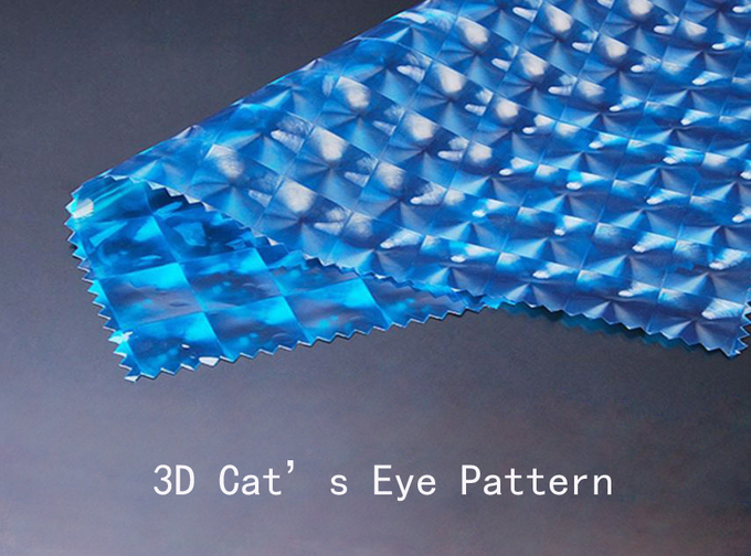 3D Cat's Eye Pattern Waterproof Beach Bags Zipper Closure Type For Wet Clothes on Beach