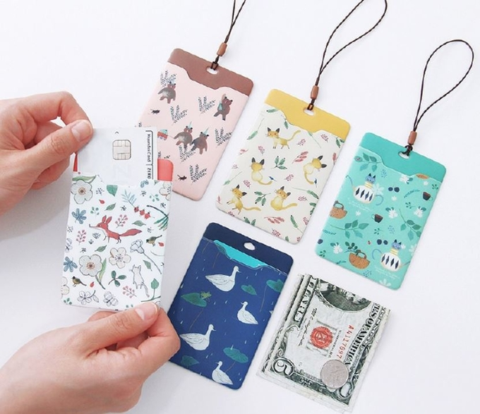 Promotional Gifts Lanyard ID Card Holder Bus Card Cover Lovely Carton Theme