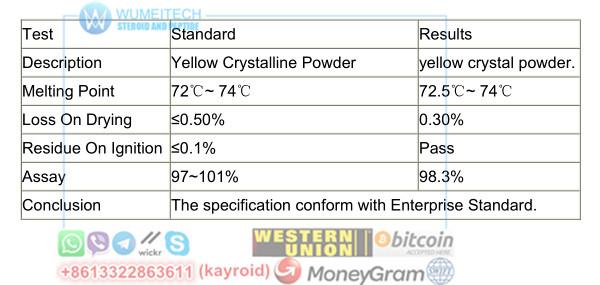 Trenabol 200mg Raw Tren Powder Light Yellow Trenbolone Enanthate Red
