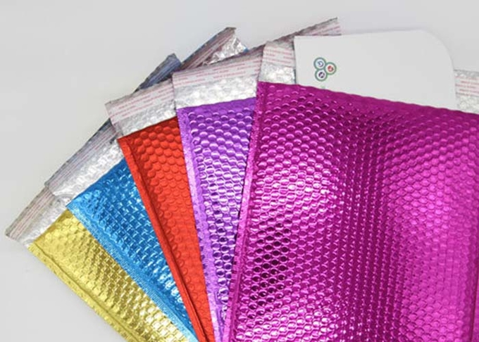 Assorted Colored Metallic Bubble Mailers 6x9 Gloss Waterproof  for Shipping