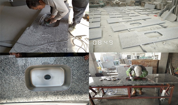 New Design Copy Granite Solid Stone Countertops Natural Color Custom Cut