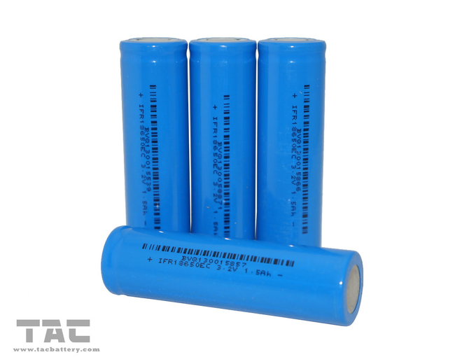 Lithium battery IFR18650 3.2V LiFePO4 Battery 1400mAh For Flashlight