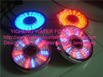 195mm Plastic Chrom Underwater Led Fountain Lights 4.5W 6W 8.4W AC12V